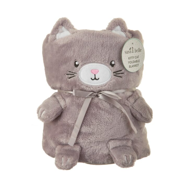 BLK001_A_Kitty_Cat_Soft_Fleece_Baby_Blanket_Front