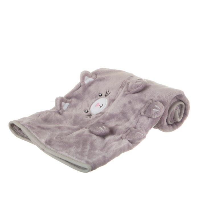 BLK001_B_Kitty_Cat_Soft_Fleece_Baby_Blanket_Side