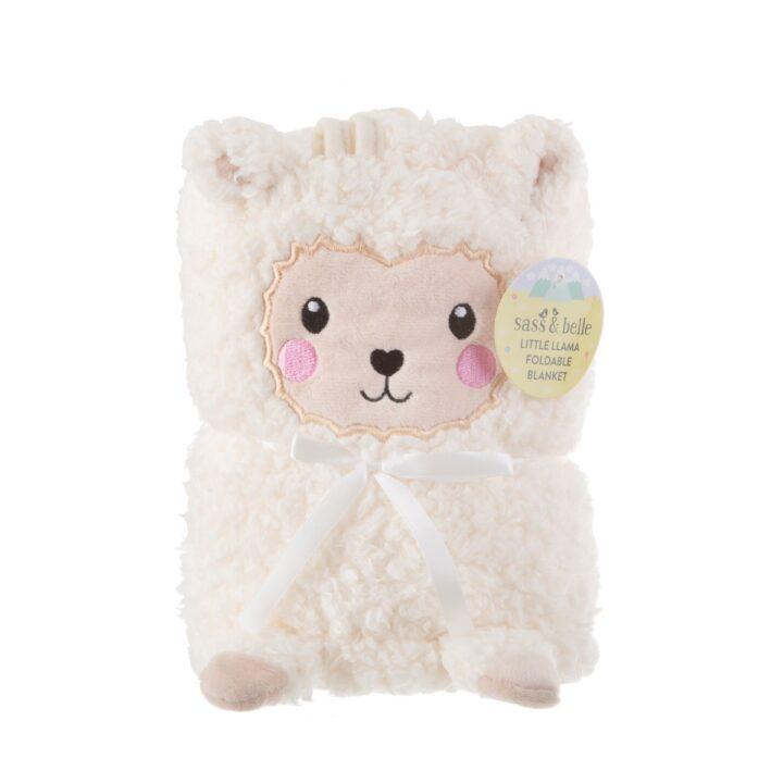 BLK005_A_Little_Llama_Soft_Fleece_Baby_Blanket_Front