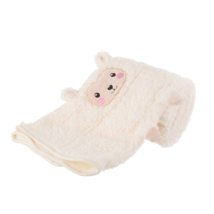 BLK005_B_Little_Llama_Soft_Fleece_Baby_Blanket_Side