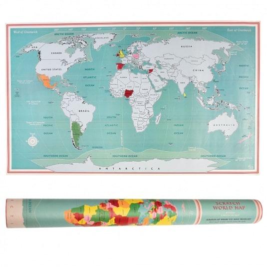 Παγκόσμιος χάρτης scratch map