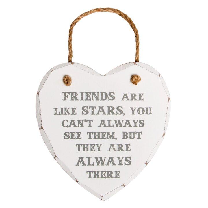 """Ξύλινο ταμπελάκι """"Friends are like stars"""""""