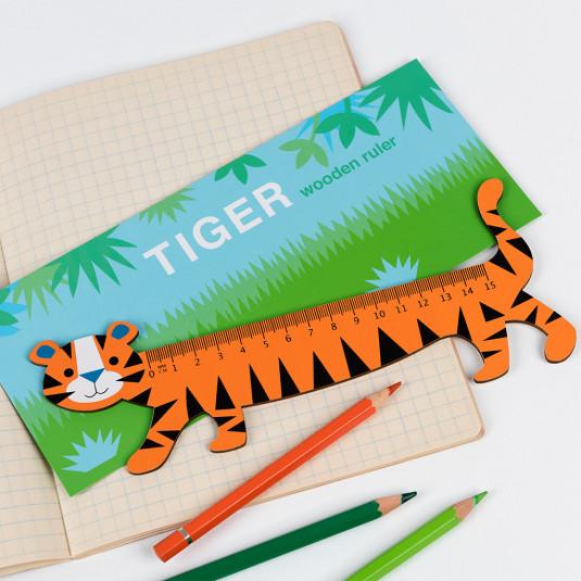 Ξύλινος χάρακας τίγρης