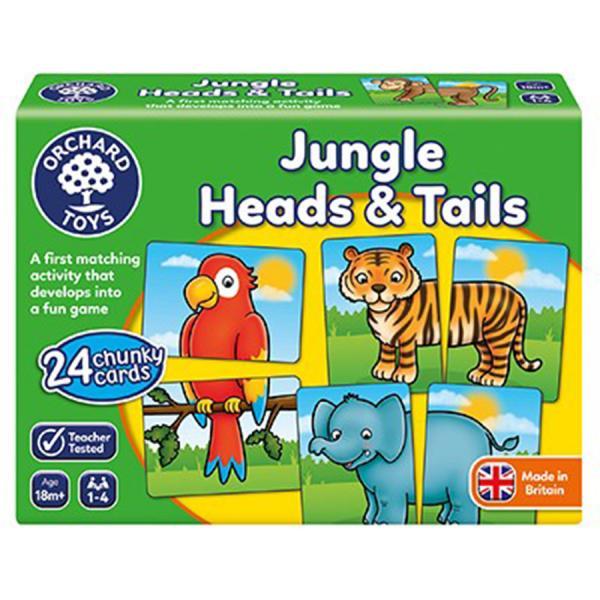 "Orchard Toys ""Ζούγκλα Κεφάλια & Ουρές"" (Jungle Heads & Tails)"
