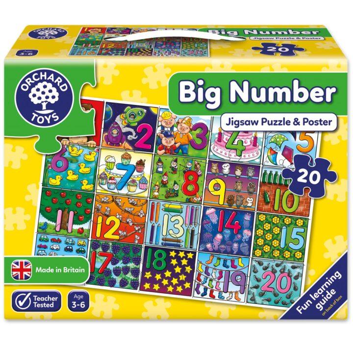 "Orchard Toys ""Μεγάλος αριθμός"" (Big Number) Jigsaw Puzzle"