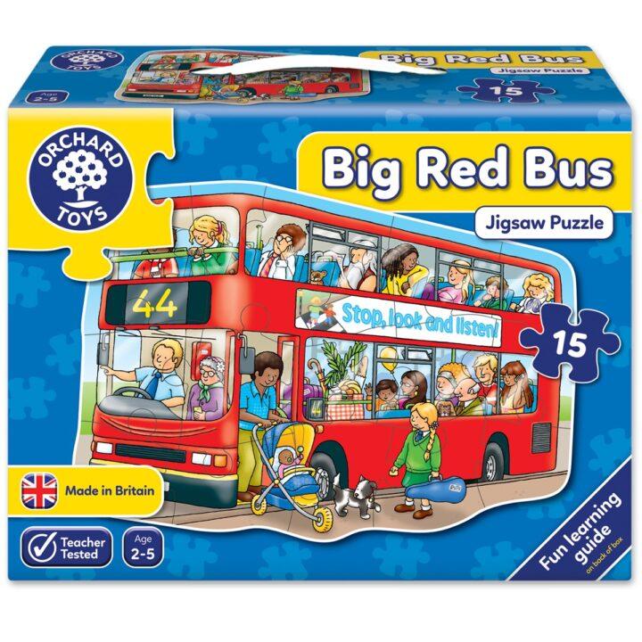 "Orchard Toys ""Μεγάλο κόκκινο λεωφορείο"" (Big Red Bus) Jigsaw Puzzle"