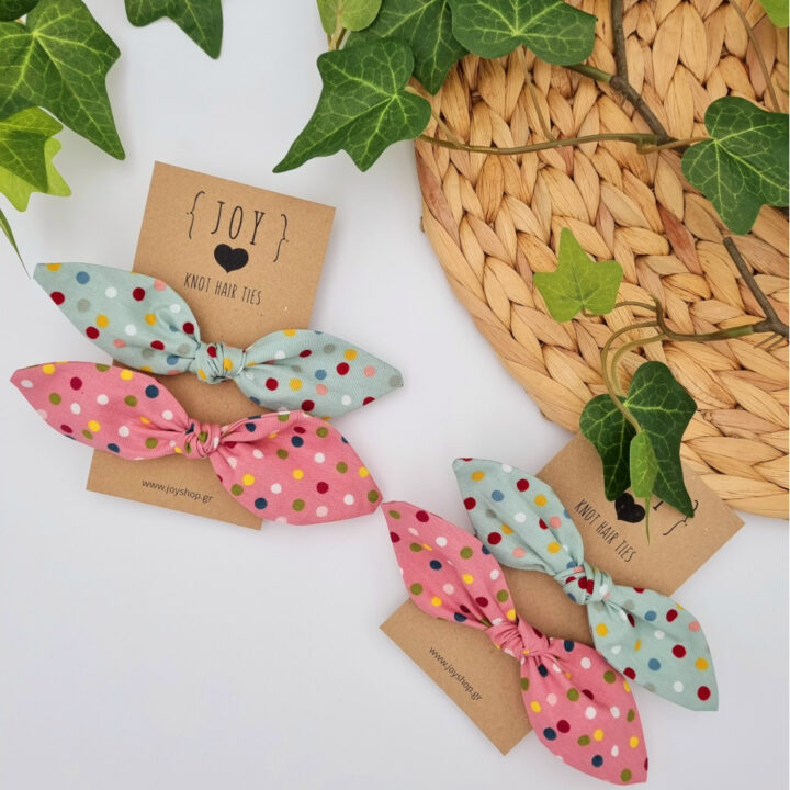 Knot hair ties Colorful Dots