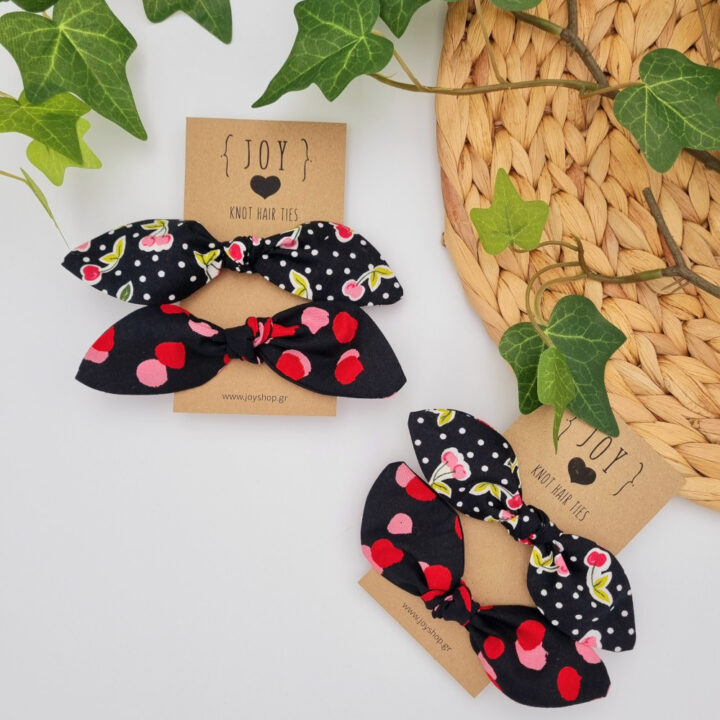 Knot hair ties Cherries and Dots