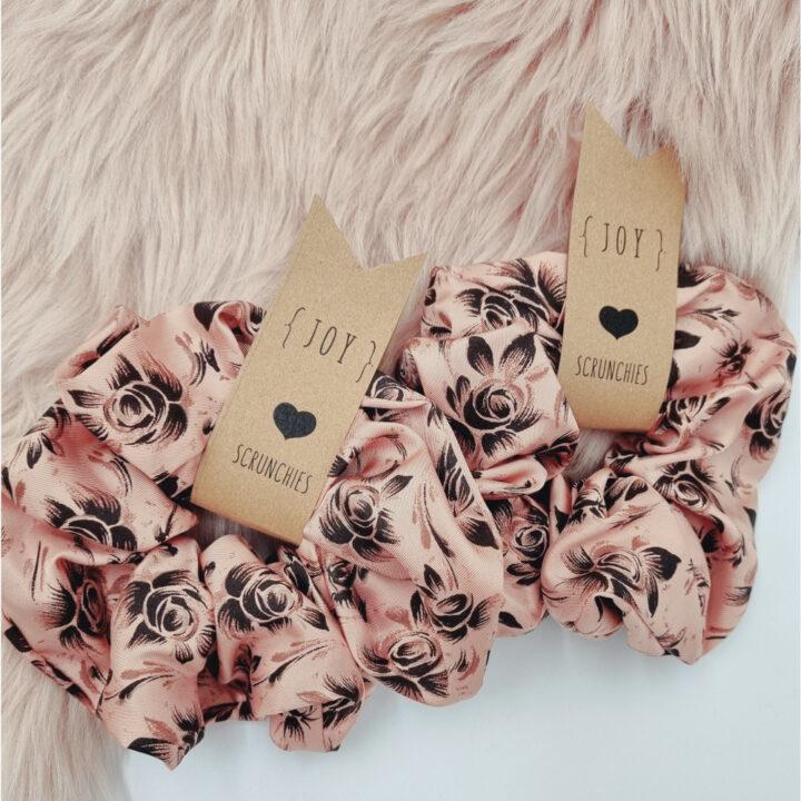 Scrunchies Σατέν Vintage Floral